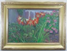 Allan Banks - Oil Painting of Lily Flowers