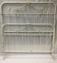Painted Twin Iron / Footboard Bed