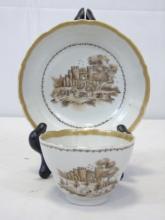Antique Chinese Export Porcelain w/ Castle Scenes