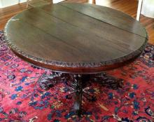 Antique American Victorian Carved Center Table