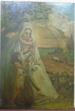 Monumental Antique Old Master Allegorical Painting