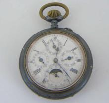 Antique Victorian Swiss Made Silver Pocket Watch