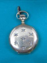 Antique 14K Gold & Diamond Ladies Pocket Watch