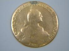 Antique Russian 1769 Gold Coin Tsarina Ekaterina