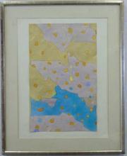 Fred Troller Contemporary Modern Framed Watercolor