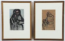 Ivan Kurach Ukrainian (1909-1968) Pair Drawings