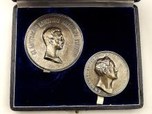 Imperial Russian Silver Table Medals