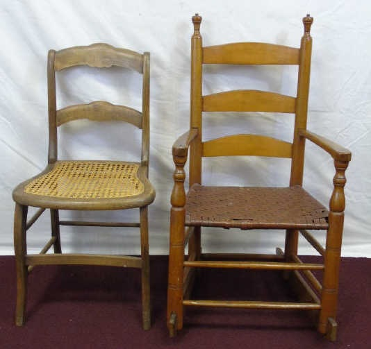Lot 538 Antique Early American Period 19th C Rocker Chair
