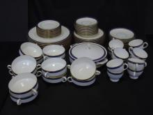 Wedgwood China Service for 12 Marina Pattern