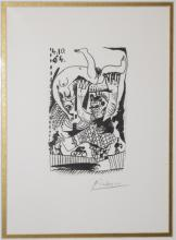 Pablo Picasso/Nude in Circus/Signed Lithograph