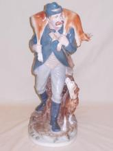 Royal Dux Porcelain American Hunter Figure w/Dog