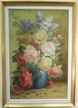 G. Rossi 19th C. Oil on Canvas Still Life