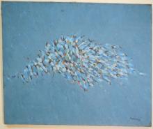 Dikran Daderian Abstract Oil on Canvas