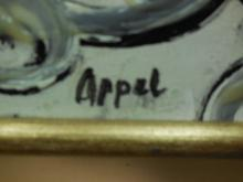 Abstract Acrylic on Canvas Signed Appel