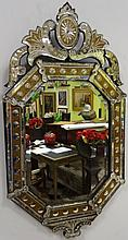 Vintage Hall Mirror with Venetian Glass