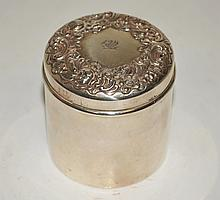 British Sterling Cosmetic Box Poppies & Hallmarks