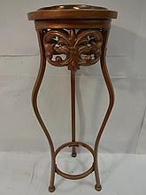 Vintage Modernist Copper Plant Stand