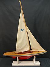 Vintage Seifert-Boot Sailboat Model/Riverside Logo