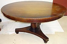 Empire-Style Mahogany-Banded Breakfast Table