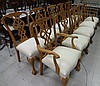 10 Bench Construction Maple Chairs w/Fabric Seats