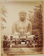Japanese Sepia Photograph of DAIBUTZ Buddha 1896