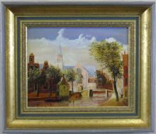 Dutch Oil Painting on Board Signed Hoff