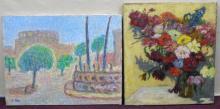 Signed Oil on Canvas Paintings Impressionist