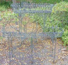 Vintage Outdoor Scroll Wire Plant Stand