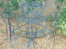 4 Vintage Iron Plant / Pot Stands