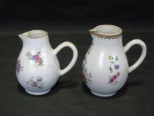 Two Antique Chinese Export Porcelain Pitchers