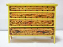 Faux Painted Miniature Blanket Chest