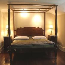 Early 20th C Carved Wood Canopy Rice Bed