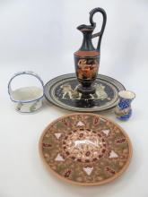 Assorted Italian, Greek & Portuguese Pottery Items