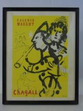 Framed Poster - Marc Chagall Galerie Maeght