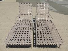 Pair of Contemporary Pool / Patio Chaise Lounges