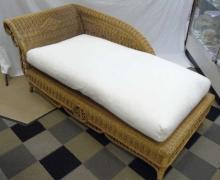 New Victorian Style Wicker Chaise Lounge