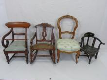 Antique Doll / Child Size / Salesman Sample Chairs