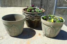 Three Large Neo Classical Style Planter Pots