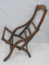 Vintage Wood Campaign Chair Frame