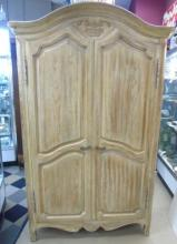 French Provencal Style Cream Painted Armoire