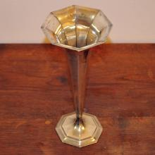Art Deco Tiffany & Co Fluted Sterling Trumpet Vase