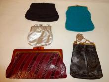 Lot of 5 Vintage Clutch Bags