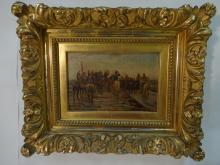 19th Century French Military Oil on Canvas