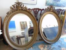 Pair Antique 19th C Georgian Gilt Frame Mirrors