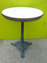 Antique American Marble and Cast Iron Cafe Table