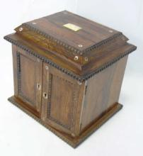 Antique 19th C Anglo Indian Inlaid Jewelry Box