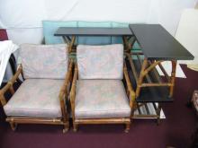 Vintage Six Piece Bamboo & Rattan Furniture Set