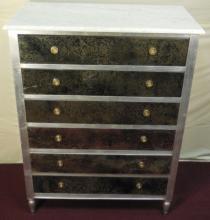 Maison Jansen Mirrored 6 Drawer Dresser