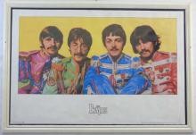 1990 Apple Productions BEATLES Poster Sgt. Pepper