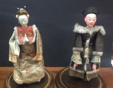 Two Antique Chinese Opera Puppet Dolls
